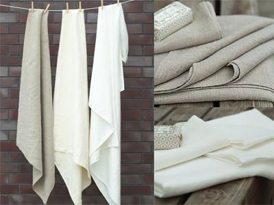 Lara Bath Towels Natural, Cream and White