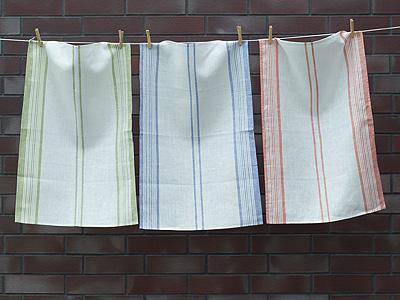Perfect Striped Linen Tea Towels