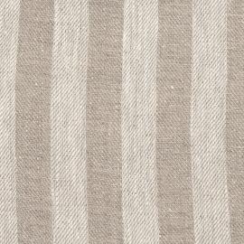 Lucas Natural Linen Fabric Striped