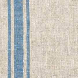 Natural Blue Linen Fabric Provance