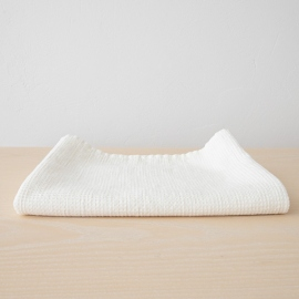 Bath Towel White Linen Cotton Checkes