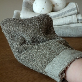 Glove Natural Linen Terry