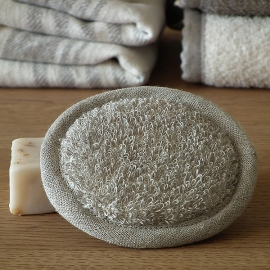 Natural Linen Facial Pad Terry