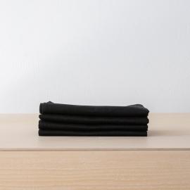 Black Linen Napkin Lucia