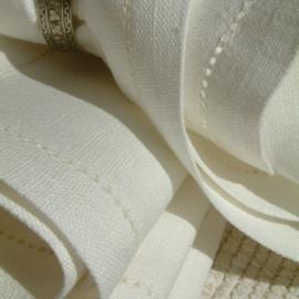 Napkin Off White  Linen Hemstitched
