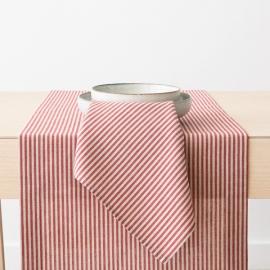 Red Striped Linen Cotton Napkin Jazz