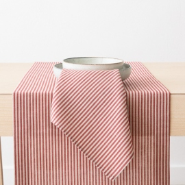 Red Striped Linen Cotton Napkin Jazz