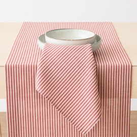 Red Striped Linen Runner Jazz