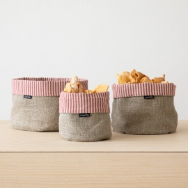 Set of 4 Rosa Linen Wash Cloths Waffle