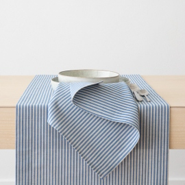 Blue Striped Linen Cotton Napkin Jazz