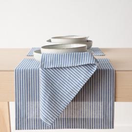 Blue Striped Linen Cotton Placemat Jazz