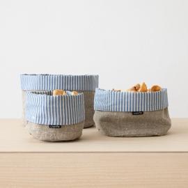 Blue Linen Cotton Basket Jazz