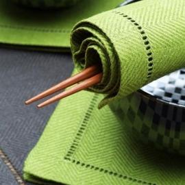Rain Forest Green Linen Napkin Emil