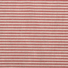 Red Striped Linen Fabric Sample Jazz