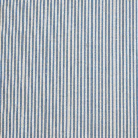 Fabric Blue Striped Linen Jazz