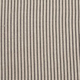 Fabric Sample Black Striped Linen Jazz