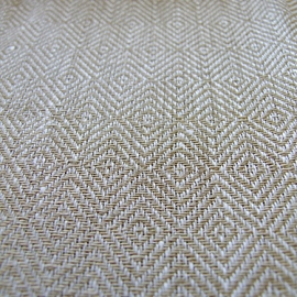 Fabric Sample Linen Rhomb