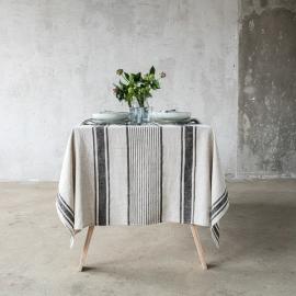 Black Linen Tablecloth Provance ...