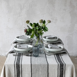 Black Linen Tablecloth Provance