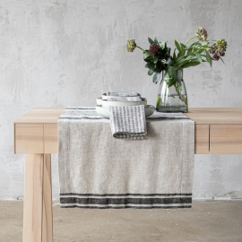 Black Linen Runner Provance