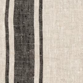 Black Linen Fabric Provance Prewashed