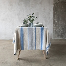Tablecloth Blue Linen Provance