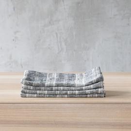 Black Multi Striped Linen Runner