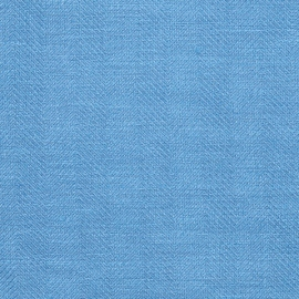 Fabric Royal Blue Linen Emilia
