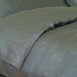 Duvet Grey Linen Hemstitch