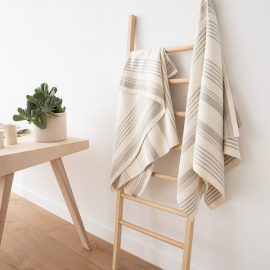 Bath Towel Cream Huckaback Linen Linum