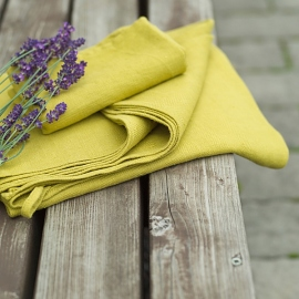 Citrine Huckaback Linen Bath Towel Lara