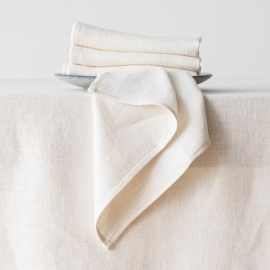 Cream Linen Runner Lara