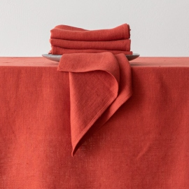 Orange Linen Runner Lara
