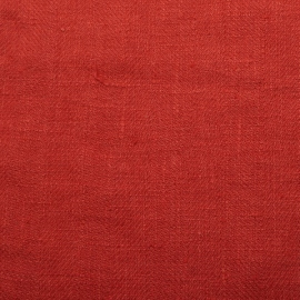 Orange Linen Fabric Lara Washed