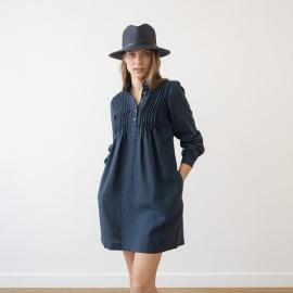 Tunic Crown Blue Linen Sofie