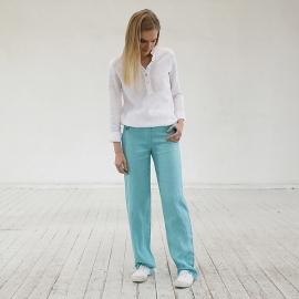 Aqua Linen Trousers Alma