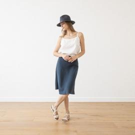 Skirt Crown Blue Linen Alma