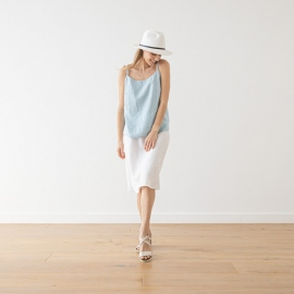 Linen Skirt White Alma