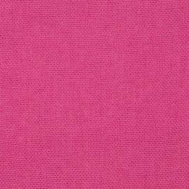 Bright Pink Linen Fabric Rustico
