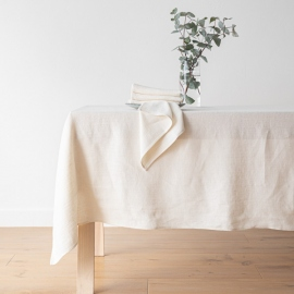 Cream Linen Tablecloth Lara