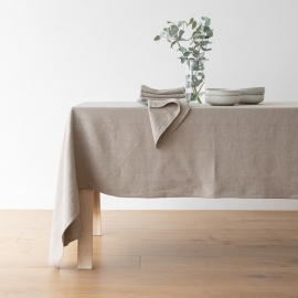 Natural Linen Tablecloth Lara