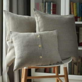 Natural Linen Cushion Cover Lara