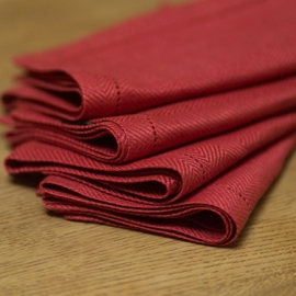 Napkin Blood Orange Linen Emilia