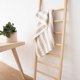 Bath Towel Beige Linen Philippe