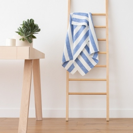 Bath Towel Blue Linen Philippe