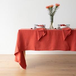 Linen Tablecloth Orange Lara