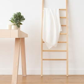 Off White Linen Bath Towel Lara