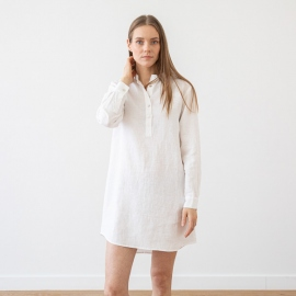 Indigo Linen Night Shirt Alma