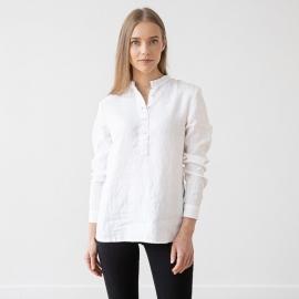Shirt White Linen Toby