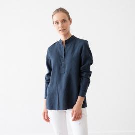 Indigo Linen Shirt Toby